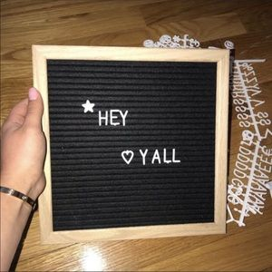 Other - Small wood letter board